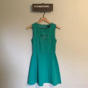 French Connection Green Keyhole Dress